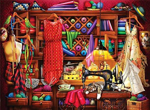 Puzzel Für Erwachsenen Puzzle 1000 Teile Kind Puzzles-Kleiderschrank-Aus Holz Puzzle Panorama Art DIY Leisure Game Fun Geschenk Spielzeug Geeignete Freunde Familie