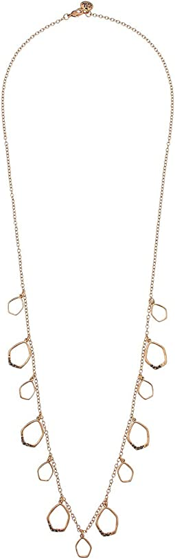 Shaky Pave Necklace 28""