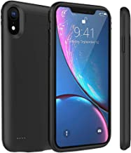 iPhone XR Battery Case, Euhan 4200mAh Slim Rechargeable Power Charging Case for iPhone XR (6.1 inch) Extended Battery Pack Protective Charger Case with kickstand,Compatible with Wire Headphones(Black)