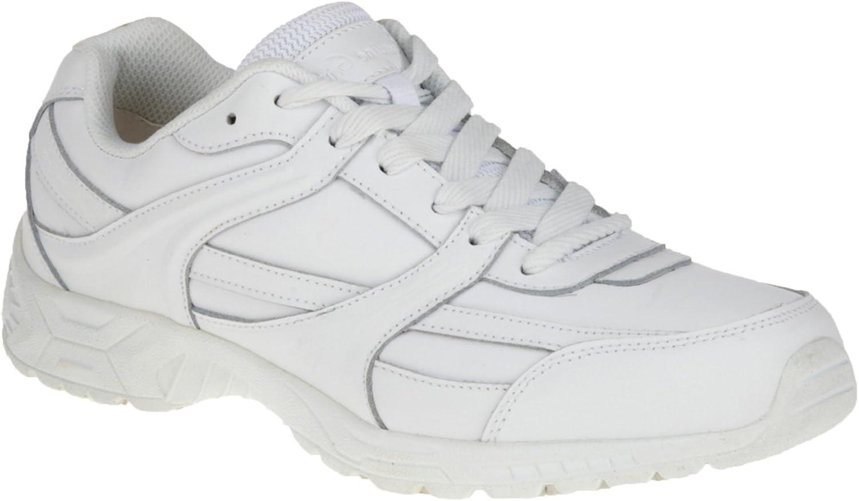 Genuine Grip Men's Soft Toe Slip Resistant Athletic Oxford (10.5 M) White