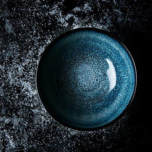 Blumen Pinellia Creative Ceramic Bowl Home Geschirr Salat Ramen Suppe Schüssel Geschirr Schüssel Obst Platte