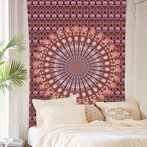 Mandala tapiz bohemio tradicional de algodón impreso tapiz de pared arte telón de fondo para decoración de apartamentos 150x200cm