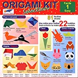 Origami Paper - Origami Kit Selection 1 (Easy) - Illustrated Instructions + 81 Sheets of Origami Paper - 15cm x 15cm