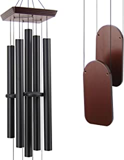 ASTARIN Large Wind Chimes Outdoor Deep Tone, 48 Inch Amazing Grace Wind Chime Sympathy with 5 Big Aluminum Tubes Tuned Soothing Melody,Memorial Wind Chimes Unique for Patio, Garden, Yard, Porch Decor