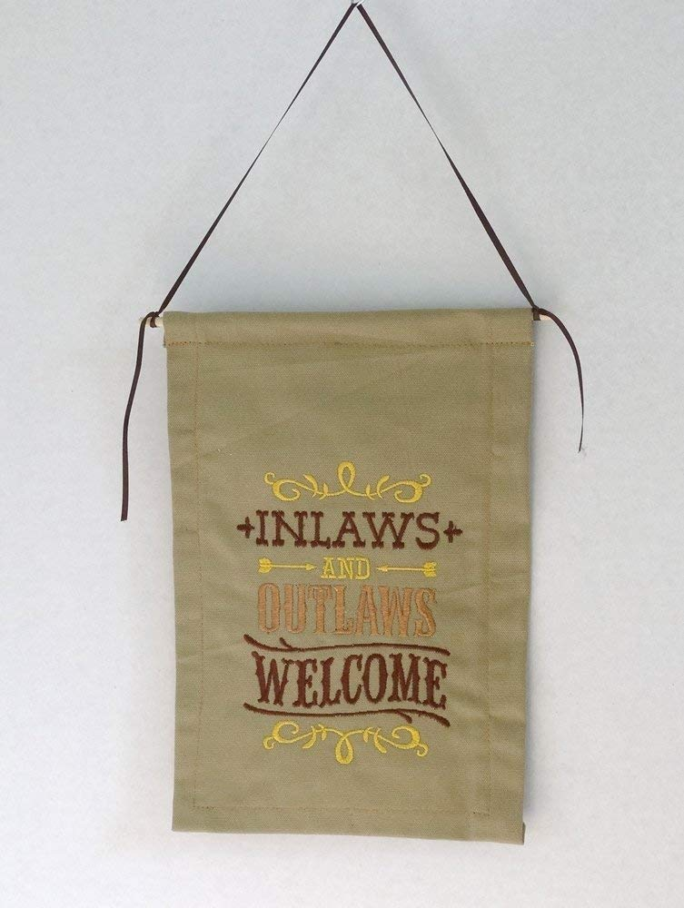 Inlaws Outlaws Welcome Wall Financial sales sale Hanging Large special price -