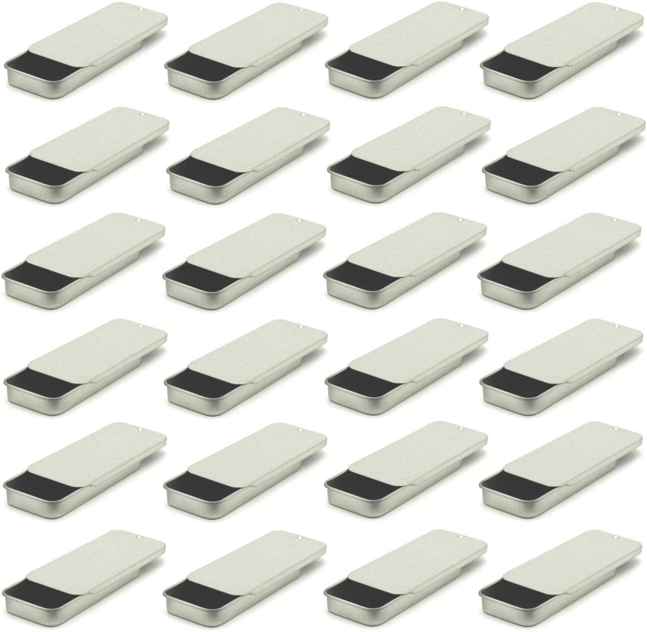 MagnaKoys Max 74% OFF Small Metal Slide Top National products for Crafts Geoca Tin Containers