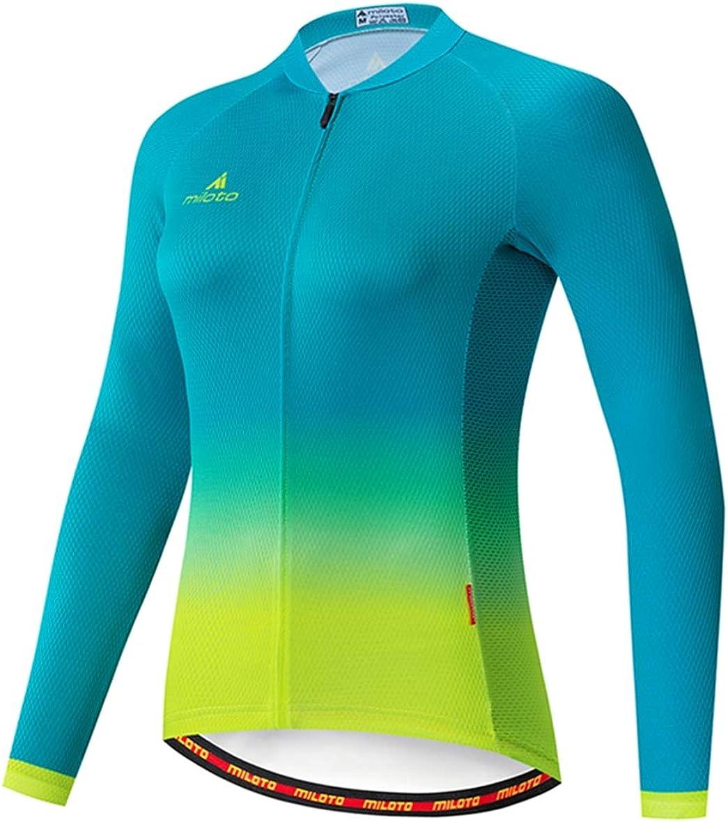 Max 53% OFF Women's Cycling Jersey Long Sleeve Quic Biking Jacket Shirt Bike Houston Mall
