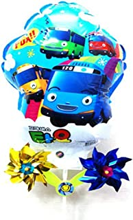 Tayo the little bus Balloon with Pinwheel Birthday Picnic Party Supplies