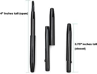 Small Super Slim Ultra Mini Black Metal Retractable Travel Lip Brush Gloss Lipstick Applicator