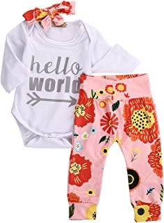 Winsummer Toddler Kids Baby Girls Clothes Off Shoulder Strap Top Shirts Floral Flare Pants Set Outfits 1-5T Cotton