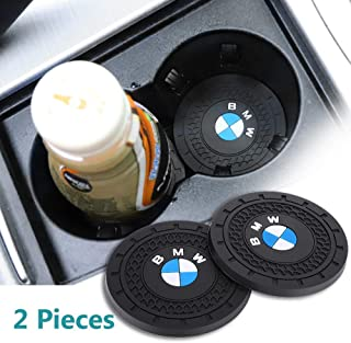JDclubs 2.75 Inch Diameter Oval Tough Car Logo Vehicle Travel Auto Cup Holder Insert Coaster Can 2 Pcs Pack (fit BMW)