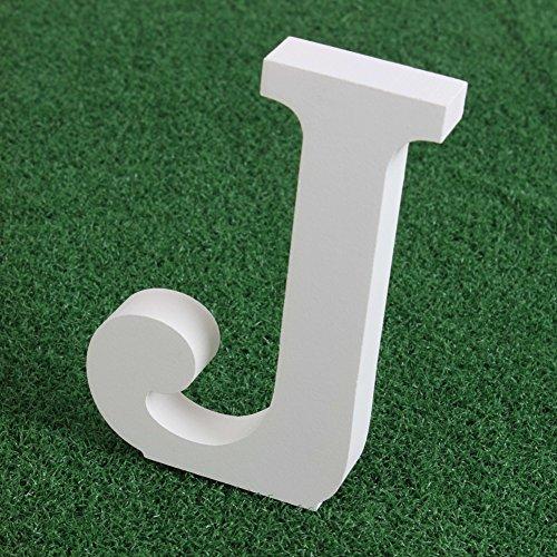 EXIU Letras de madera blancas Letras del alfabeto Palabra de pie libre Decoración del jardín de la casa del banquete de boda