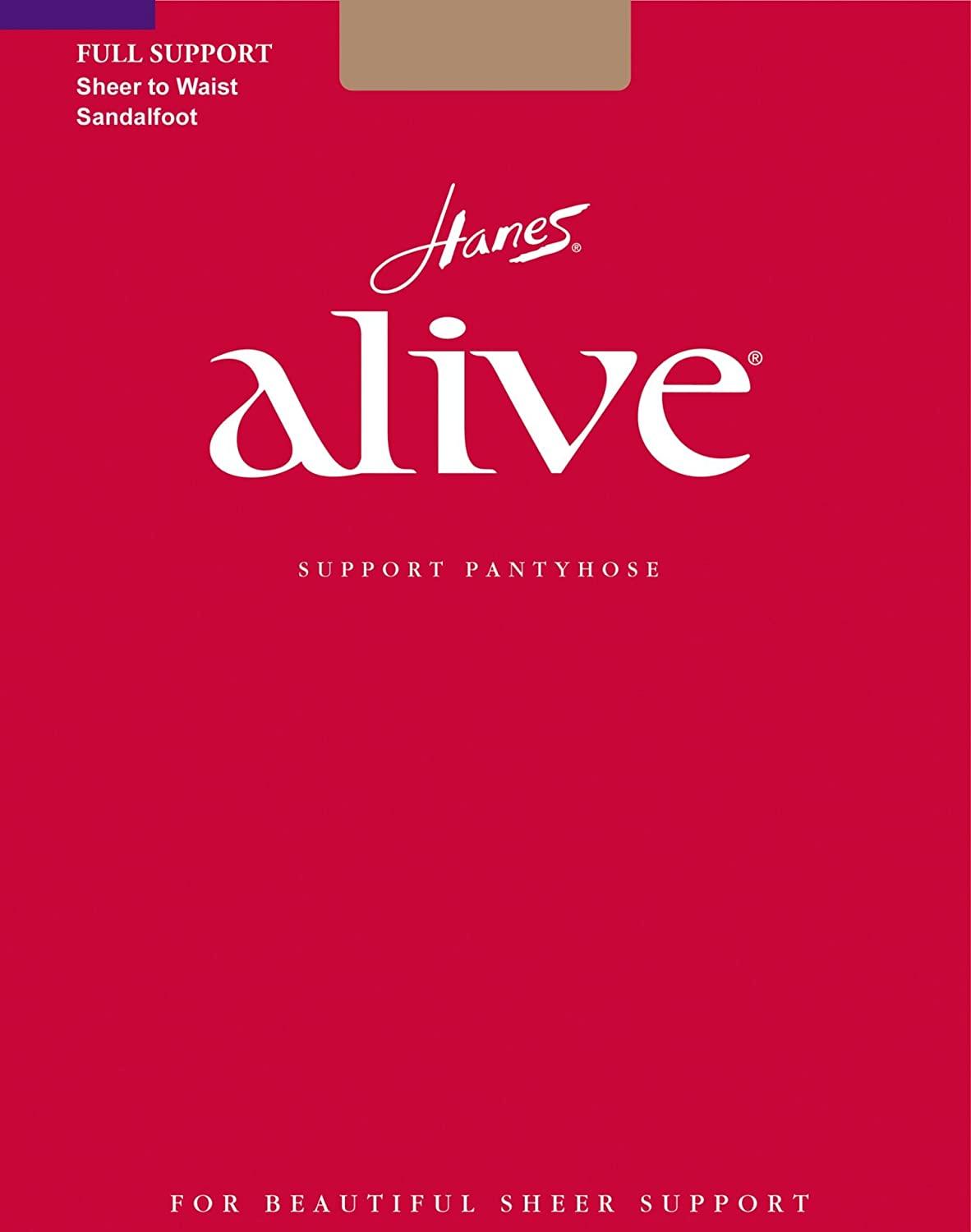 Hanes Alive Full Support Sheer to Waist Pantyhose,Barely There-C
