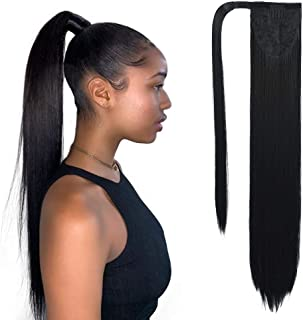 SEIKEA Clip in Ponytail Extension Wrap Around Long Straight Hair Extension 20 Inch..