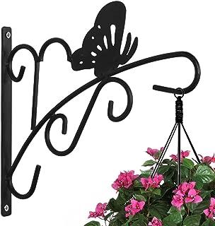 Hanging Plants Bracket 11'' Wall Planter Hook Flower Pot Bird Feeder Wind Chime Lanterns Hanger Patio Lawn Garden for Shelf Shelves Fence Screw Mount against Door Arm Hardware
