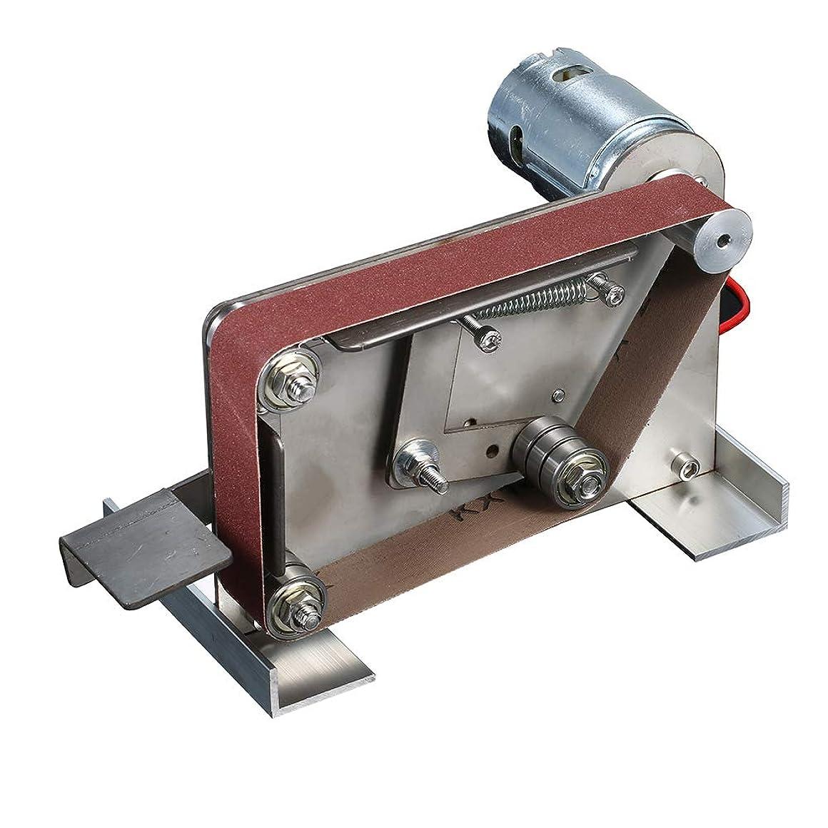 傷つけるオリエンタルアグネスグレイKKmoon ベルトサンダー AC110-240V グラインダー ミニ電動ベルトサンダー DIY研磨 研削盤カッター エッジシャープナー