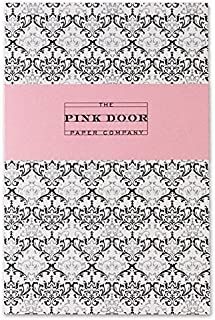 Pink Door Paper Company Retro Style Notebook, 8 x 5.25-Inches, Crystal