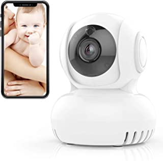 I-STAR Wireless Smart Security IP Camera - 2.4GHz Home Indoor Pan Tilt Camera With Night Vision Two-Way Audio Built-in Lullaby Cloud Service Available Real-time Temperature Detection Alarm