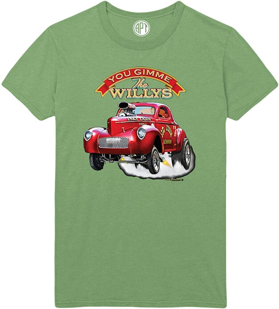 Gimme The Willys Coupe Gas Car Printed T-Shirt