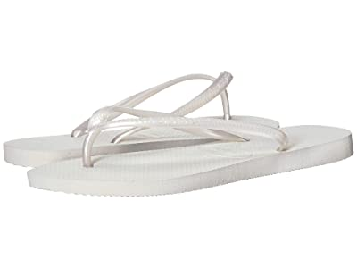 Havaianas Slim Flip Flops (White) Women