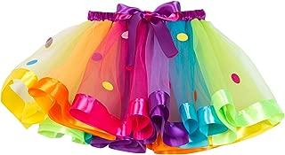 MOLFROA Baby Girls Colorful Layered Dance Outdoor Rainbow Tutu Skirt