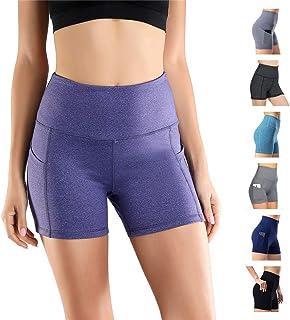 53915ab747019 Short De Sport pour Femme Pantalon De Yoga Pantalon De Sport Skinny Taille  Haute Fitness Course