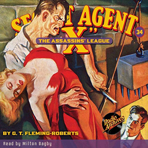 "Secret Agent ""X"" #34 audiobook cover art"