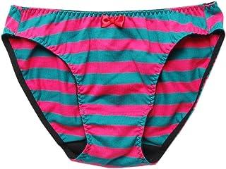 縞パン 1/1リアルバージョンビキニショーツ ピンク+深ミドリ サイズM