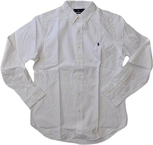 Polo Ralph Lauren Homme Ralph Lauren manche longue Classic Fit Chemise X-grand Blanc