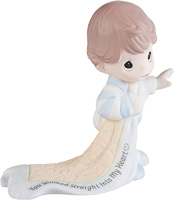 Precious Moments 193005 Straight Into My Heart Baby Walking Bisque Porcelain Figurine, One Size, Multicolor