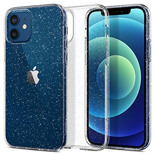 Spigen Funda Liquid Crystal Glitter Compatible con iPhone 12 y Compatible con iPhone 12 Pro - Crystal Quartz