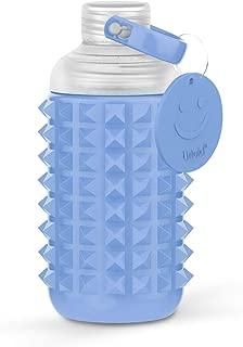 Artoid Mode 21oz Spiked Glass Water Bottle - Silicone Protective Sleeve, 100% Borosilicate Glass - BPA Free, Dishwasher Safe