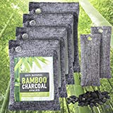 Bamboo Charcoal Bags, 6-Pack Charcoal Bags Odor Absorber (4x400g&2x50g), Large Eco-friendly Activated Bamboo Charcoal Bag, Natural Air Freshener for Home Car Office Closet Gym Bag, Pet Friendly