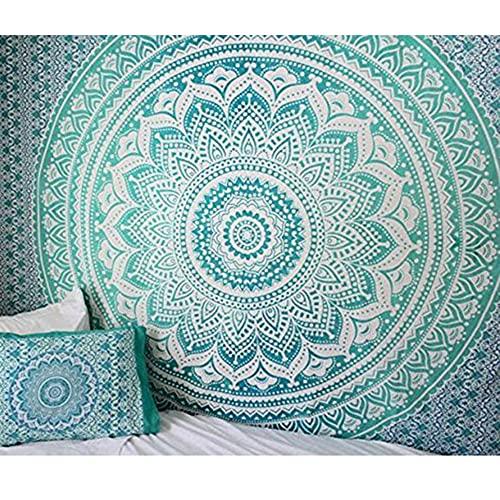 Tapiz de mandala indio colgante de pared tapiz bohemio manta de toalla de playa decoración de la pared del hogar tela de fondo A14 73x95cm