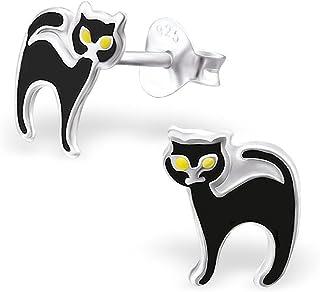 Filles noires avec la chatte noire