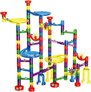 AMERTEER 122Pcs Marble Maze Game Building Toy for Kid, Marble Track Race Set