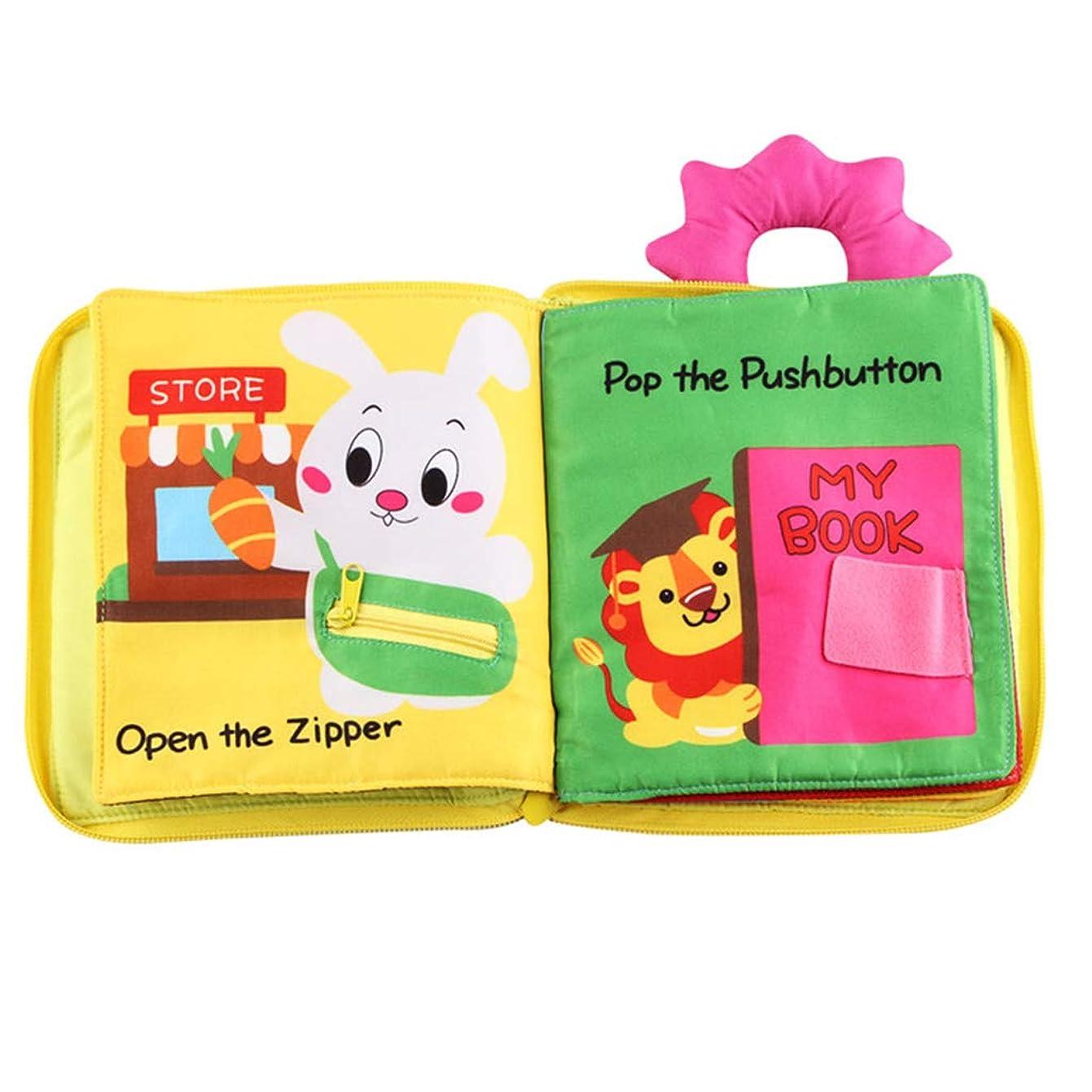 話をするサーバントさておきF Fityle 子供 絵本 布本 ソフトブック 赤ちゃん 音出せ 学習ページ スキル 知育 破れない 洗濯可能