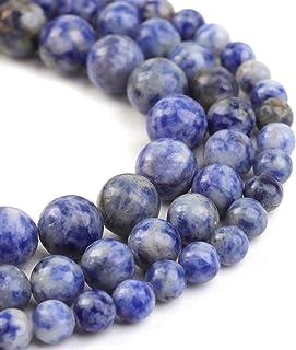 Sodalite Beads Jewelry Making Supply Destash Stone Bead Dark Blue Beads 8mm Round Beads