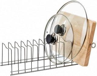 SANNO Pot Lid Organizer Pot Lid Rack Holder Suitable for Bakeware Dish Plate, Cutting Boards, Pots & Pans, Serving Trays, ...