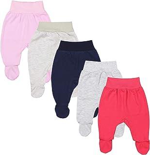 TupTam, Pantalón con Pies de Bebé para Niña, Pack de 5