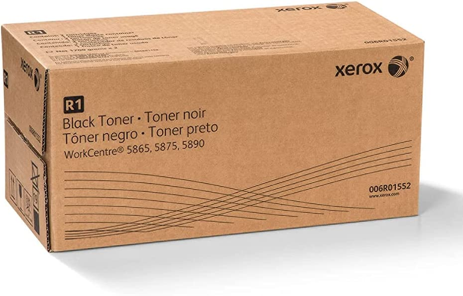 Xerox 006R01552 WorkCentre 5865 5875 5890 Toner-Cartridge (Black, 2-Pack) in Retail Packaging