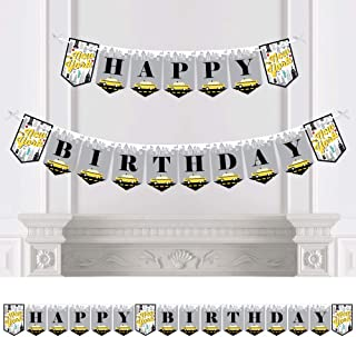 Big Dot of Happiness NYC Cityscape - New York City Birthday Party Bunting Banner - Birthday Party Decorations - Happy Birt...