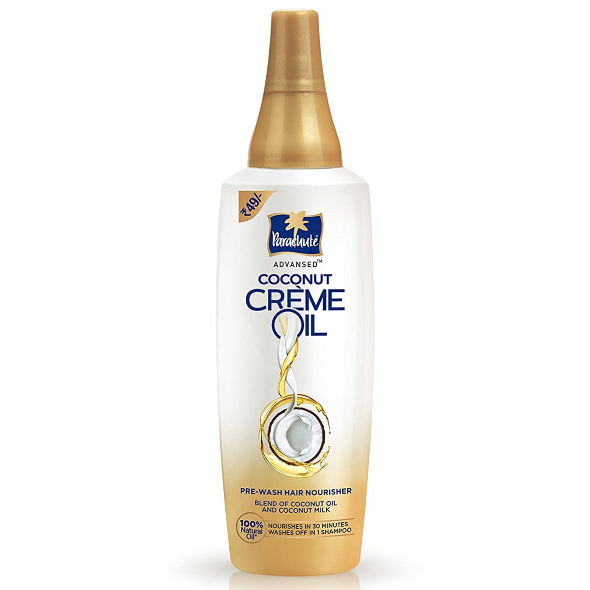 頑丈いらいらするかどうかParachute Advansed Coconut Crème Oil, 60 ml (Pack of 4)