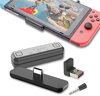 GuliKit Switch Bluetooth オーディオアダプター Switch PS4 Switch lite PS5 用Bluetoothアダプタートランスミッター aptX遅延なし 無線 BTH USB-C端子 Bluetoothイヤ...
