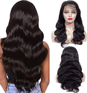 Healthair 360 Lace Frontal Wig 18inch Brazilian Human Hair Wigs 150% Density Body Wave 360 lace wig for Black Women Pre Plucked Natural Hairline with Baby Hair (360 wig body 18inch)