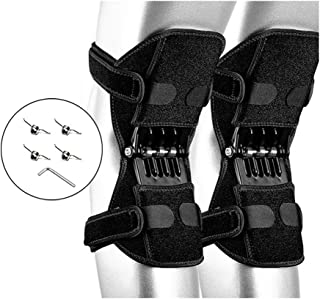 TYH Knee Support Booster, Powerful Rebound Spring Force, Mountaineering Deep Care Joint Protection Decompression Pads, Black