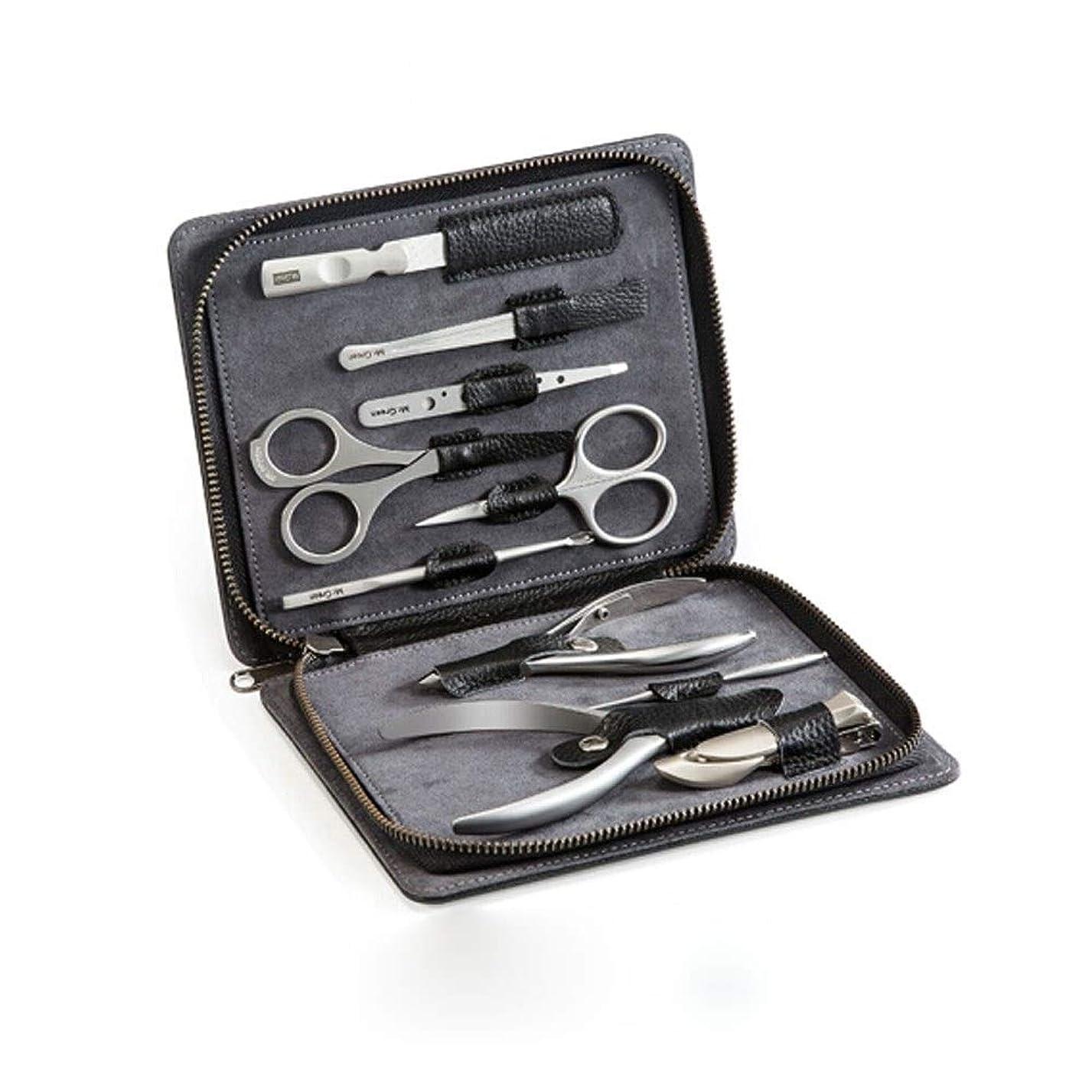 リングバック痛み日付付きTUOFL ステンレス鋼のマニキュア美容キット10セット、牛革包装、安全で衛生的な、スタイリッシュな雰囲気 (Color : Silver)