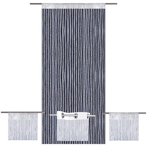 Bestlivings Fadenvorhang Lurex-Optik weiß, Auswahl: Stangendurchzug 140 x 250 cm