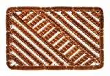 Faba Home Felpudo de malla de alambre de coco, muy resistente, resistente a la intemperie, para la suciedad gruesa, 60 x 40 cm