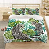 Bedclothes-Blanket Chicas Duvet Cover Set King 220x230 cm Animal Tiger 3D Pattern 3 Piezas Conjunto de Ropa de Cama Microfibra Cubierta de edredón con 2 pillowcasas, para niños Adultos-5_220 * 240 cm